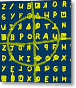 Zodiac Killer Code And Sign 20130213p68 Metal Print by Wingsdomain Art and Photography