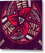 Native American Designs In The Round Metal Print