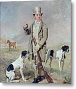 Richard Prince With Damon - The Late Colonel Mellish's Pointer Metal Print by Benjamin Marshall