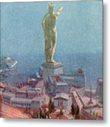 7 Wonders Of The World, Colossus Metal Print by Photo Researchers
