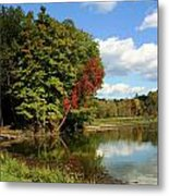 A Touch Of Autumn Metal Print by Kristin Elmquist