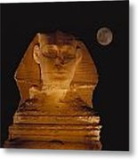 A View Of The Great Sphinx At Night Metal Print