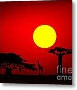 Africa Sunset Metal Print