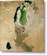 Aral Sea Metal Print by NASA / Science Source