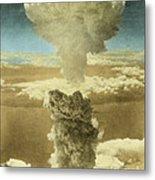Atomic Bombing Of Nagasaki Metal Print by Omikron