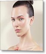 Beautiful Young Woman Portrait Metal Print by Oleksiy Maksymenko