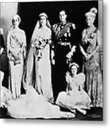 British Royal Family. Seated, From Left Metal Print