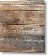 Brown Sandals On Withered Wood  Metal Print
