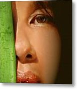 Close-up Of A Beautiful Asian Woman Metal Print
