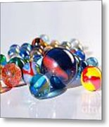 Colorful Marbles Metal Print by Carlos Caetano