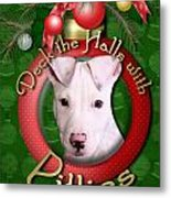 Deck The Halls With Pitbulls Metal Print by Renae Laughner
