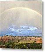 Double Rainbow Over Sedona Metal Print