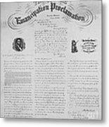 Emancipation Proclamation Metal Print