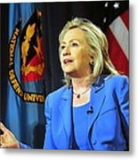 Hillary Clinton, Us Secretary Of State Metal Print by Everett