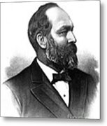 James A. Garfield, 20th American Metal Print
