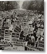 March On Washington. African Americans Metal Print
