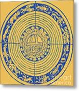 Medieval Zodiac Metal Print