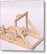 Model Catapult Metal Print by Ted Kinsman