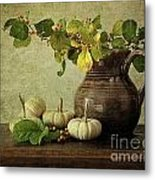 Old Pitcher With Gourds Metal Print
