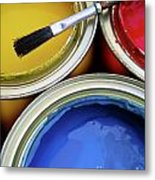 Paint Cans Metal Print by Carlos Caetano