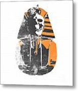 Pharaoh Stencil  Metal Print by Pixel  Chimp