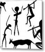 Primitive Art - Various Figures Metal Print