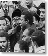 Profile Of Stokely Carmichael Speaking Metal Print