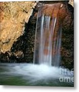 Red Waterfall Metal Print