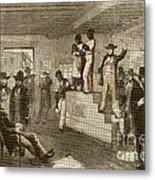 Slave Auction, 1861 Metal Print by Photo Researchers