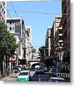 Stockton Street Tunnel In San Francisco Metal Print by Wingsdomain Art and Photography