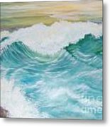 The Mighty Pacific Metal Print by Janna Columbus
