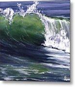 Wave 8 Metal Print by Lisa Reinhardt