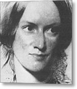 Charlotte Bronte, English Author Metal Print by Science Source