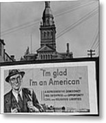 Corporate Resistance To Fdrs New Deal Metal Print