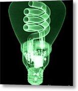 Energy Efficient Light Bulb Metal Print by Ted Kinsman