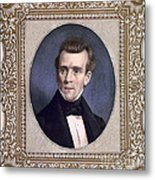 James Polk, 11th American President Metal Print by Photo Researchers