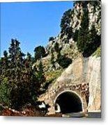 Mountain Tunnel. Metal Print