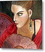 The Flamenco Dancer Metal Print by Pilar  Martinez-Byrne