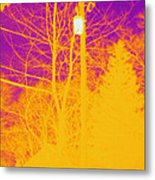 Thermogram Of Electrical Wires Metal Print by Ted Kinsman
