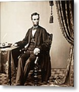 Abraham Lincoln 1809-1865, U.s Metal Print by Everett