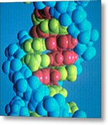 Dna Metal Print by Science Source