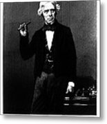 Michael Faraday, English Physicist Metal Print