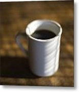 A Cup Of Coffee At A Diner Metal Print