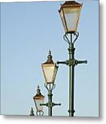 A Group Of Old Gas Street Lamps Metal Print by Bill Hatcher