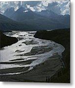 A Scenic View Of The Matanuska River Metal Print