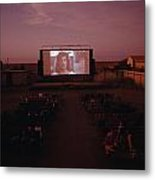 A Sparse Audience Watches A Film Metal Print by Sam Abell