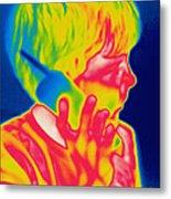 A Thermogram Of A Boy Talking Metal Print
