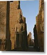 A View Of Luxor Temple Metal Print
