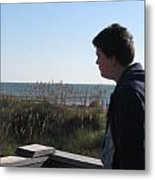 A View Of The Ocean Metal Print by Juliana  Blessington