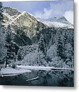 A Winter View Of The Merced River Metal Print